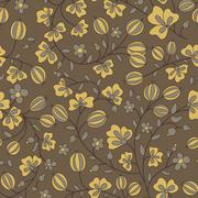 gooseberry seamless texture. vector pattern - stock illustration