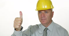 Best Engineer Constructor Stay Fixed Present Thumbs Up Well Done Hand Gesture Stock Footage