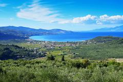 View from Anemodouri Hill, Zakynthos, Greece Stock Photos