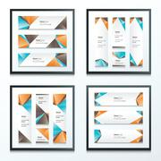 Stock Illustration of Set Bright modern abstract banner design 4 in 1