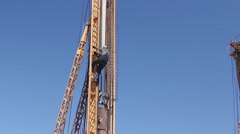 Drilling machines towers. Stock Footage