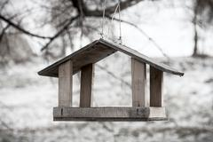 Wooden Bird Shelter - stock photo