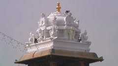 MS of statues Radha-Govinda Temple in Tirupati, India Stock Footage