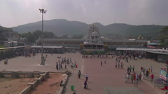 Tilt very WS of Radha-Govinda Temple in Tirupati, India Stock Footage