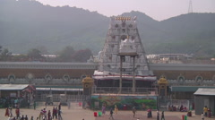 Zoom very WS of Radha-Govinda Temple in Tirupati, India Stock Footage