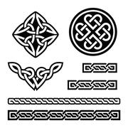 Celtic Irish patterns and braids - vector, St Patrick's Day Stock Illustration