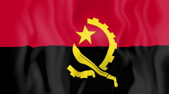 Animated flag of Angola Stock Footage