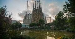 La Sagrada Família Timelapse Stock Footage