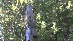Statue - stanley park BC , Vancouver Stock Footage