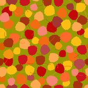 Seamless vector pattern of multicoloured rich acpen leaves - stock illustration