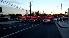 LAFD Paramedic Ambulance Units Stock Footage