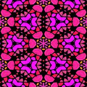 Symmetry kaleidoscope colored glass - textured background - stock illustration