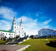 Holy Spirit Cathedral in Minsk, Belarus - stock photo