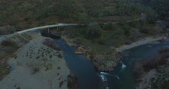 Towards the North Fork Horseshoe Bridge Stock Footage