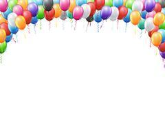 Balloons header template Stock Illustration