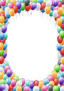 Balloons header template - stock illustration