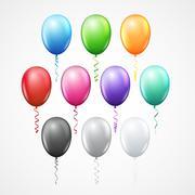 Vector balloon bunch - stock illustration