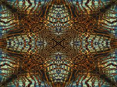 Tiger Fur Kaleidoscope Pattern Stock Illustration