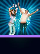 People on disco party Stock Illustration