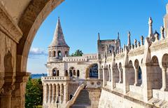Stock Photo of Fisherman Bastion on the Buda Castle hill in Budapest, Hungary