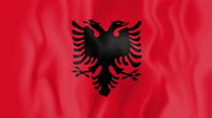 Animated flag of Albania Stock Footage