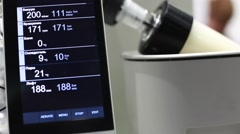 The screen with the data of laboratory evaporator Stock Footage