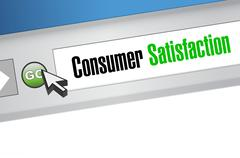 Consumer Satisfaction online sign concept - stock illustration