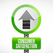 Consumer Satisfaction road sign concept - stock illustration