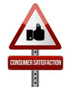 Consumer Satisfaction like road sign concept - stock illustration