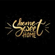 Sweet home lettering Stock Illustration