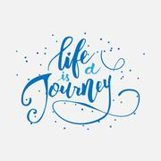 Life is a journey - stock illustration