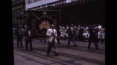 ANZAC Day Parade - Brisbane 1954 Stock Footage