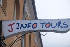 Brasov, Romania, - December 8, 2015: The J'Info Tours logo - stock photo