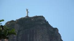 Christ the Redeemer street view, Rio de Janeiro - 1080p Stock Footage