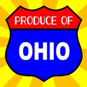 Produce Of Ohio Shield - stock illustration