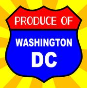 Produce Of Washington DC Shield - stock illustration