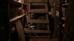 Stock Video Footage of Cellar with staircase