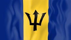 Animated flag of Barbados Stock Footage