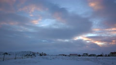 Countryside of Akureyri in winter,iceland Stock Footage
