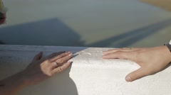 Convergence hands, close up - stock footage