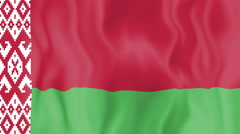 Animated flag of Belarus Stock Footage