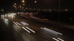 Time-lapse of cars passing at night in Boca Raton, Florida. Stock Footage
