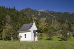 Chapel in Stodertal Hinterstoder Totes Gebirge Upper Austria Austria Europe - stock photo
