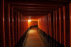 Torii gates in Fushimi Inari Shrine Stock Photos