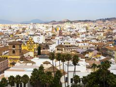 Stock Photo of View from the Alcazaba fortress on the historic center of Malaga Malaga