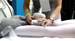 Body treatment device to target all cellulite related problems, body remodelling Stock Footage