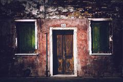 Vintage grunge style looking house entrance Stock Photos