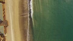 Aerial Malibu beach California . Pacific Ocean. Stock Footage