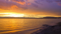 Time lapse Yellowstone Lake Sunrise at West Thumb Stock Footage