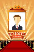 Employee of the Month Poster Frame - stock illustration